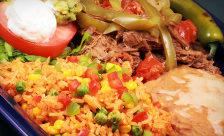 Mexican Cuisine at Cantinflas Restaurant & Bar (Half Off). Two Options Available.