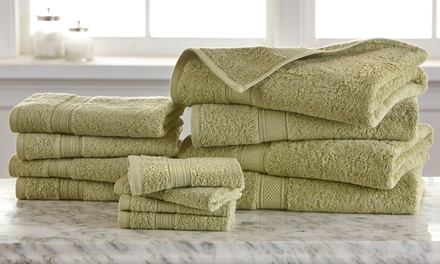 12-Piece 100% Egyptian Cotton 600 GSM Towel Set