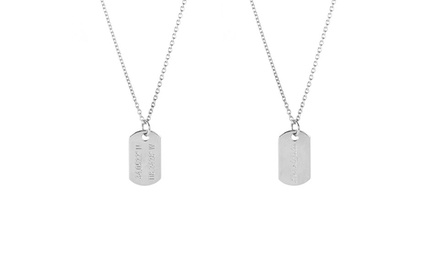 Personalized Horizon or Amazon Necklace from Coordinates Collection (58% Off)