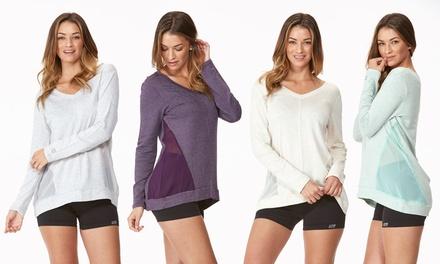 Marika Balance Collection Women's Chiffon Insert Pullover