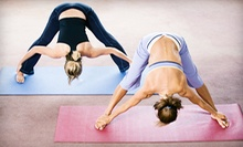 20 or 10 Drop-In Yoga and Fitness Classes, or One Month of Unlimited Classes at Flow Yoga Studio (Up to 77% Off)