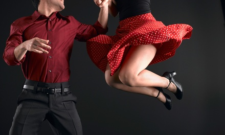 Five or Two Private Dance Lessons with One Group Class and One Practice Party at Steps in Time (Up to 74% Off)