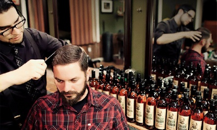 $15 for a Men's Haircut or Straight-Razor Shave at The Modern Man Barber Shop (Up to $28 Value)