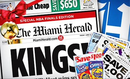 $9 for 12-Month Sunday Home Delivery to the &quot;Miami Herald&quot; ($80.13 Value)