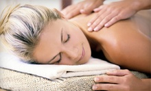55-Minute Massage with Optional Ionic Foot Scrub at Ah-Ha Therapy (Up to 54% Off)