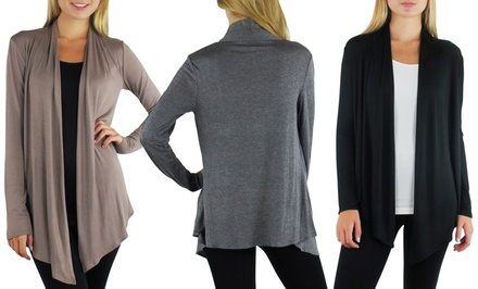 3-Pack of Free to Live Women's Draped Cardigans. Free Returns.
