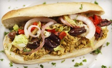 Custom Sandwiches or Plates for Two or Catered Party Tray for 10 or 20 from Poccadio Moroccan Grill & Sandwiches