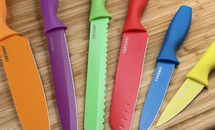Top Chef 12-Piece Colored Cutlery Set