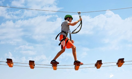 90-Minute Aerial Adventure Park Experience for Two or Four at  Open Air Adventure Park (Up to 41% Off)