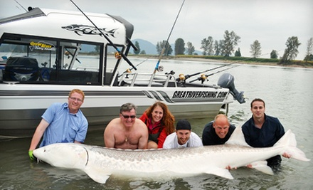 Sturgeon Fishing for Two or Four or Steelhead Fishing for Three from Great River Fishing Adventures (Up to 61% Off)