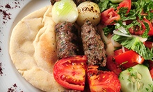 Three-Course Moroccan and Mediterranean Dinner with House Wine for Two or Four at Pasha Taverna & Lounge (Up to 52% Off)