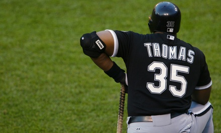 Meet-and-Greet on April 18 with Chicago White Sox HOF Frank Thomas, and Signed Bat or Baseball (Up to 48% Off)