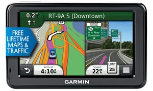 "Garmin 2455lmt 4.3"" Color Touchscreen Gps With Lifetime Traffic And Maps (manufacturer Refurbished)"