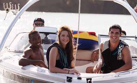 One- or Three-Hour Lake Austin Captained Boat Rental for Four from Lone Star Aquatics (Up to 56% Off)