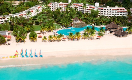 Groupon Deal: 4- or 7-Night Stay for Two at All-Inclusive Jolly Beach Resort & Spa in Antigua. Includes Taxes and Fees.