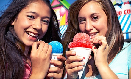Snow Cones, Shakes, and Sundaes at SnoBiz Treat Shoppe (Up to 52% Off). Two Options Available.