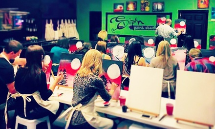 $24 for a Two-Hour Sip and Paint Class at Sip'n Paint Studio ($38 Value)