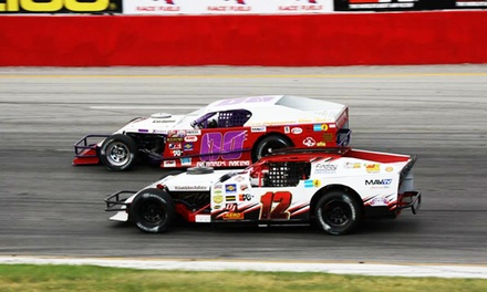 $29 for Lucas Oil Modified Series Races, Fireworks, and Hot Dogs for Two at Rocky Mountain Raceways ($61.40 Value)