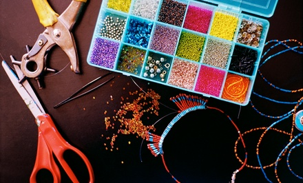 $15 for $30 Worth of Seed Beads, or an Introductory Stringing Class for Two at Studio Beads