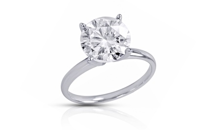 2.25, 2.50, or 3.00 CTW Certified Diamond Solitaire Ring in 18K Gold from $3,499.99–$4,999.99