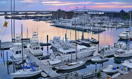 groupon daily deal - Stay at The Newport Harbor Hotel and Marina in Newport, RI, with Dates into May