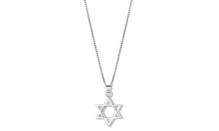 Sterling Silver Star of David Pendant