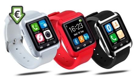 Smartwatch multifunção preto, vermelho ou branco por 29,90 € (70% de desconto) com envio gratuito
