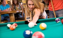 $25 for Two Hours of Billiards with Burgers and Beer for Two at Joe Broadway's Billiards & Sports Bar ($59.90 Value)