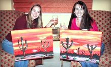 Three-Hour Painting Party with Supplies for One or Two from Vegas Painting Parties (Up to 57% Off)