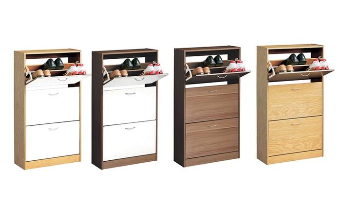 Groupon White Shoe Cabinet