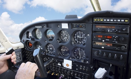 Half-Hour or One-Hour Flight Lesson and Aerial Mountain Tour for Two from Johnson City Aviation (Up to 49% Off)