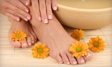 One or Three Mani-Pedis at Lucy Noelle Beauty Shop and Day Spa (Up to 61% Off)