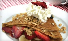 Crepes with Coffee, Iced Tea, or Soda for Two or Four at BannaStrows Crepes and Coffee (Up to 56% Off)