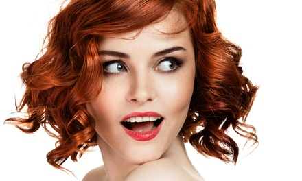 Haircut, Deep Conditioning, and Style with Optional Partial Color at Dolce Vita Salon and Spa (60% Off)