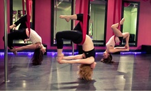 Four Pole or Aerial-Silks Classes or One Aerial Yoga Class at Cherry Blossom Pole Dancing Studio Inc. (Up to 51% Off)