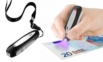 Detetor de notas falsas com luz UV por 12,90€