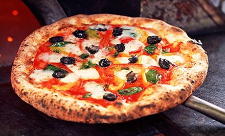 Pizza or Calzones and Salad at Pizzigando Cafe (Up to 52% Off). Two Options Available.