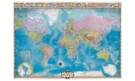 1,000-Piece Map of the World Puzzle