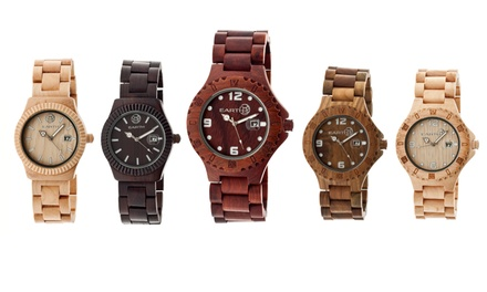 Earth Wood Pith and Raywood Unisex Watches