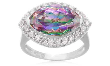 4.00 CTTW Genuine Mystic Topaz Ring