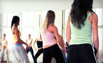 5 or 10 Zumba Classes at Dancin' Diva (Up to 68% Off)