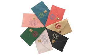 Monogrammed Clutch With Smooth Or Scalloped Edge From Social Monograms (60% Off)