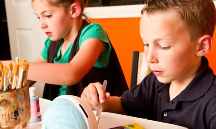 Kid's Birthday Party for Up to 10 Kids or Painting for One, Two, or Four at Bee N' Crafty (Up to 55% Off)