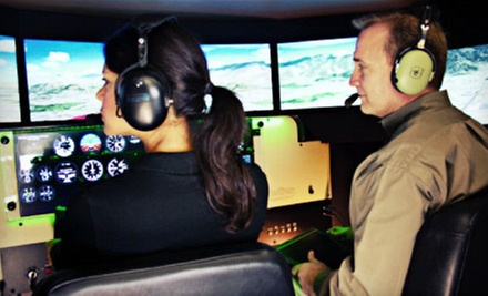 $59 for a One-Hour Flight Simulation with Instructor at AV Flight Simulation ($145 Value)