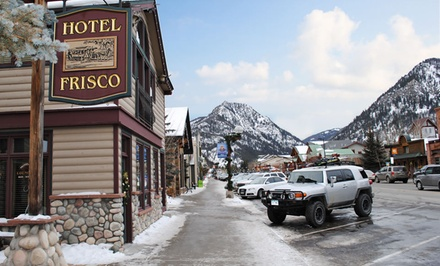 groupon daily deal - Stay at Hotel Frisco Colorado in Frisco, CO. Dates into June.