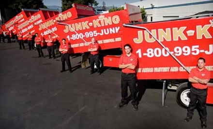 Junk Removal from Junk King (Up to 61% Off). Two Options Available.