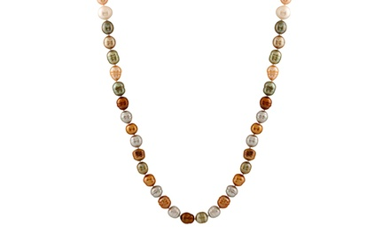 Women's Endless Multicolor Freshwater Pearl Necklace