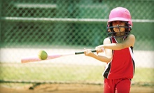10 Batting-Cage Tokens or Kickball Party for 18 with 40 Batting-Cage Tokens at Arena Softball (Up to 56% Off)