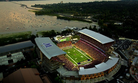 $30 for One Ticket to See a Washington Huskies Football Game at Husky Stadium on September 6 or 20 ($56.25 Value)