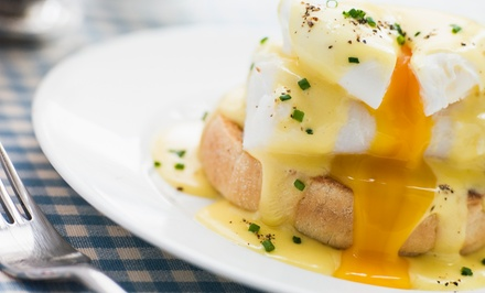 Breakfast or Lunch for Two with Optional Drinks at Shakespeare's Grille & Pub (Up to $17.90 Off)